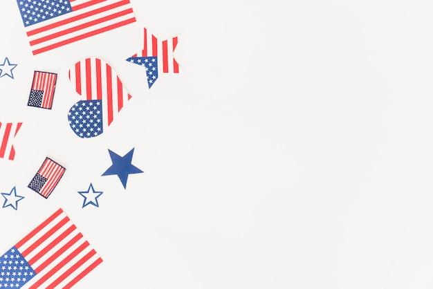 Decoração com padrão de bandeira dos eua