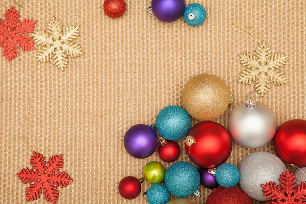 Decoração da árvore de natal para festa e comemoração