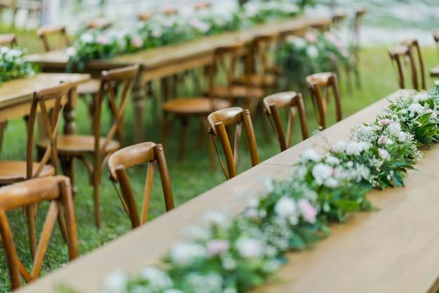 Decoração da cadeira do casamento, cadeira do evento