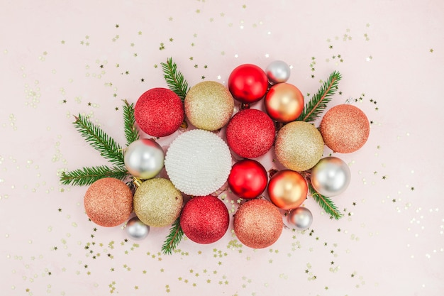 Decoração de bolas de natal