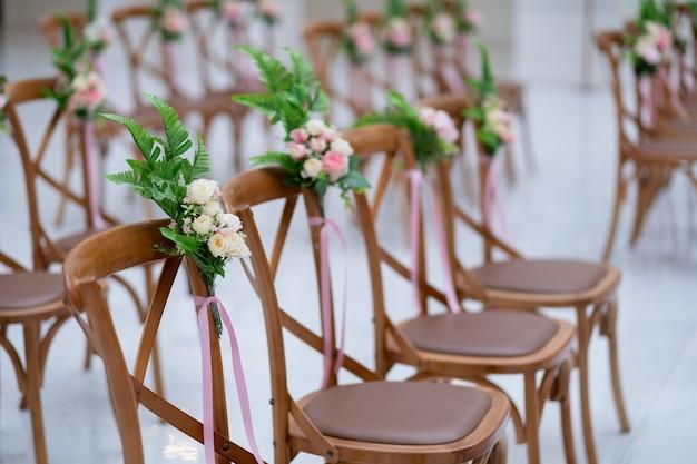 Decoração de cadeira de casamento, cadeira de evento