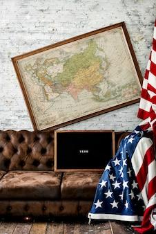 Decoração de casa de bandeira de américa