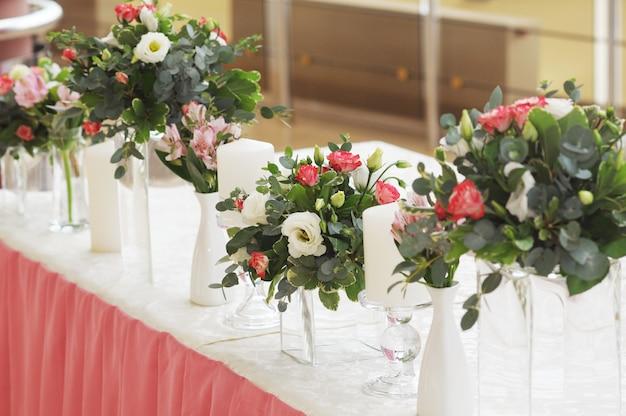 Decoração de casamento na cor rosa