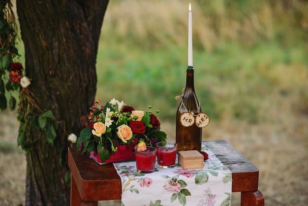 Decoração de cerimônia de casamento, decoração de mesa