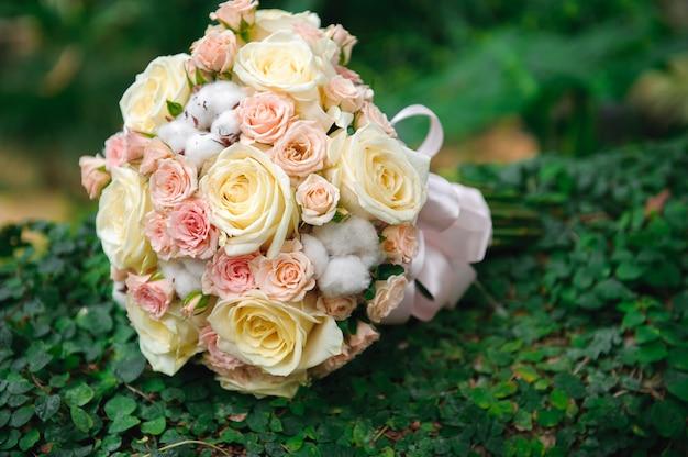 Decoração de cerimônia de casamento, linda decoração de casamento, flores