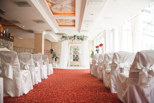 Decoração de cerimônia de casamento, linda decoração de casamento