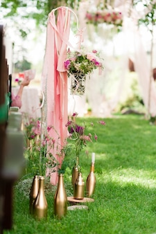 Decoração de cerimônia de casamento