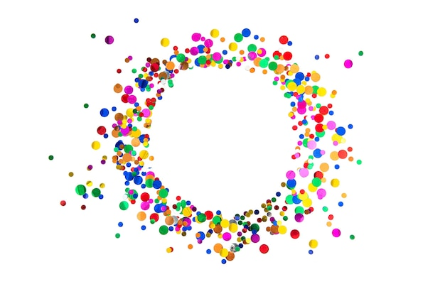 Decoração de festa com moldura confete Foto Premium