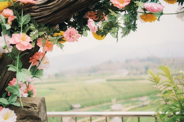 Decoração de flores com linda.