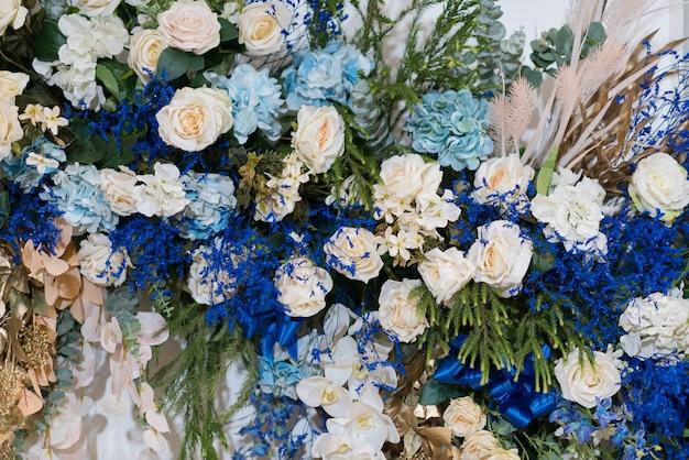 Decoração de flores de casamento
