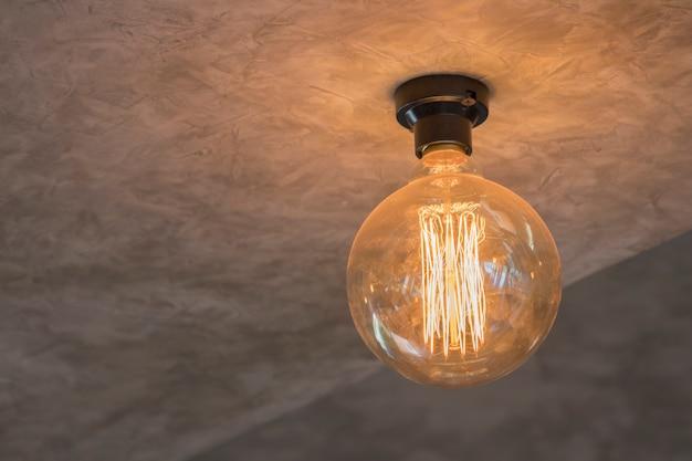 Decoração de iluminação vintage
