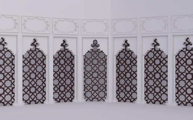 Decoração de janelas de cena islâmica árabe