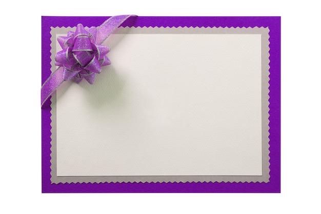 Decoração de laço azul de cartão de convite de convite