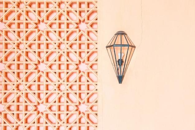 Decoração de lâmpada em estilo marrocos