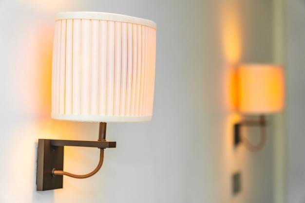 Decoração de lâmpada leve no interior da sala