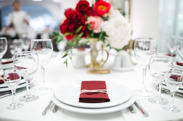 Decoração de luxo da mesa