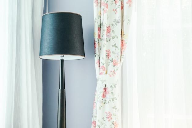 Decoração de luz da lâmpada no interior da sala de estar