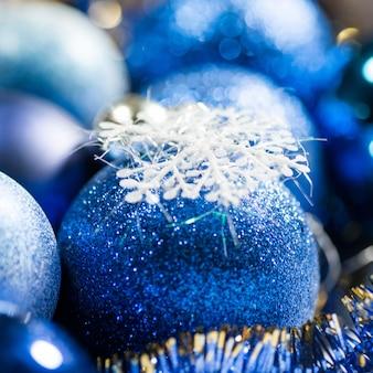 Decoração de natal azul