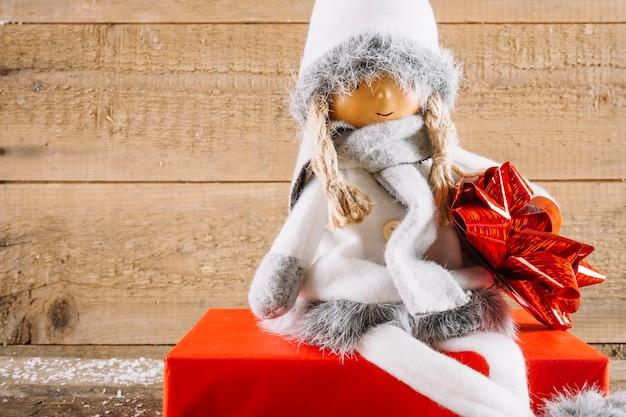 Decoração de natal com anjo