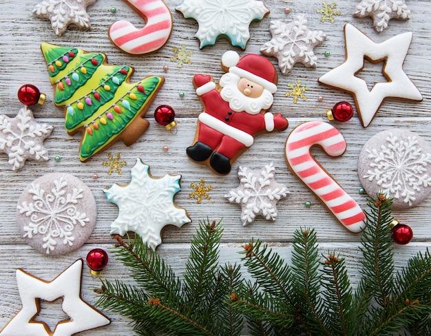Decoração de natal com biscoitos