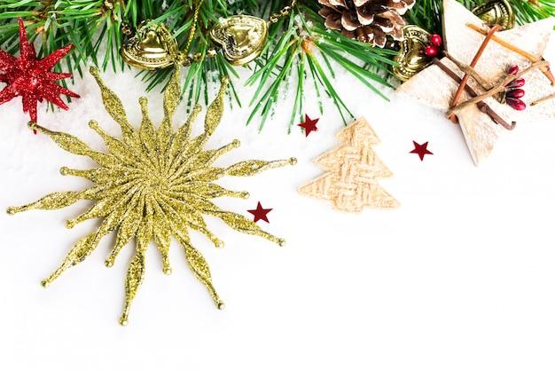 Decoração de natal com estrela de abeto