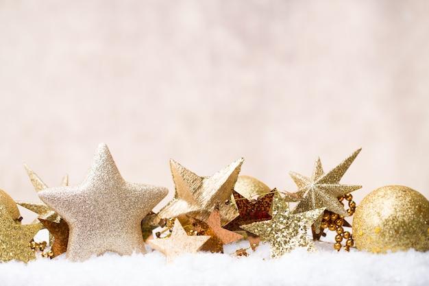 Decoração de natal e cartão comemorativo
