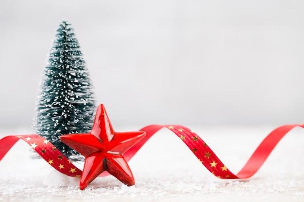 Decoração de natal em cartão de natal