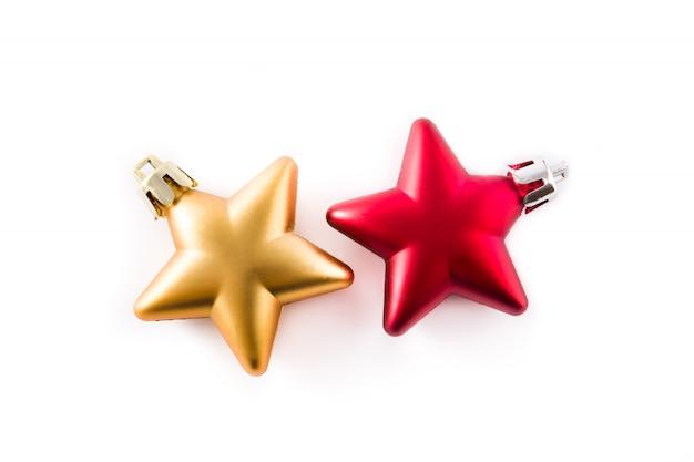 Decoração de natal estrela isolada no branco