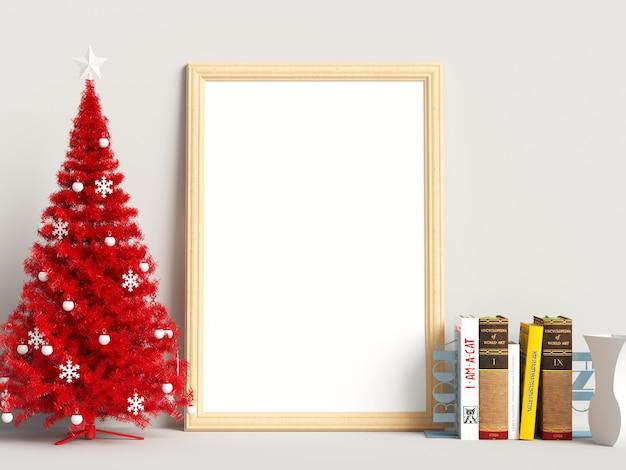 Decoração de natal mock up poster frame