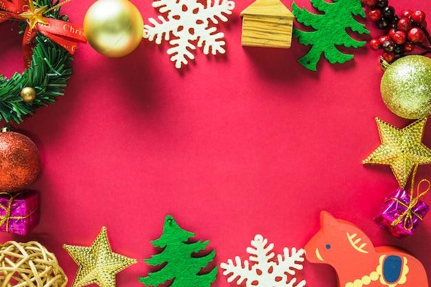 Decoração de natal na mesa