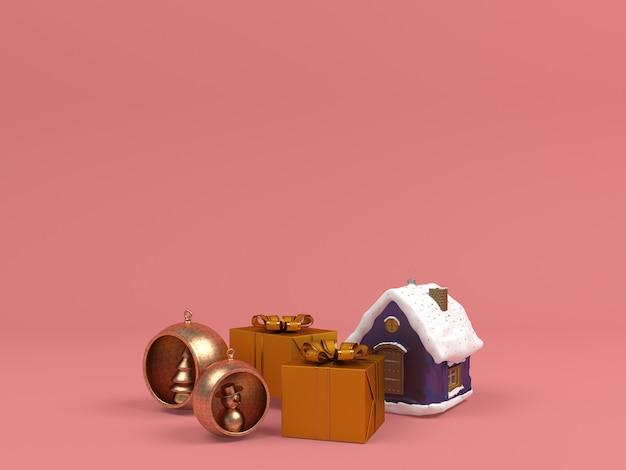 Decoração de natal no modelo de fundo pastel
