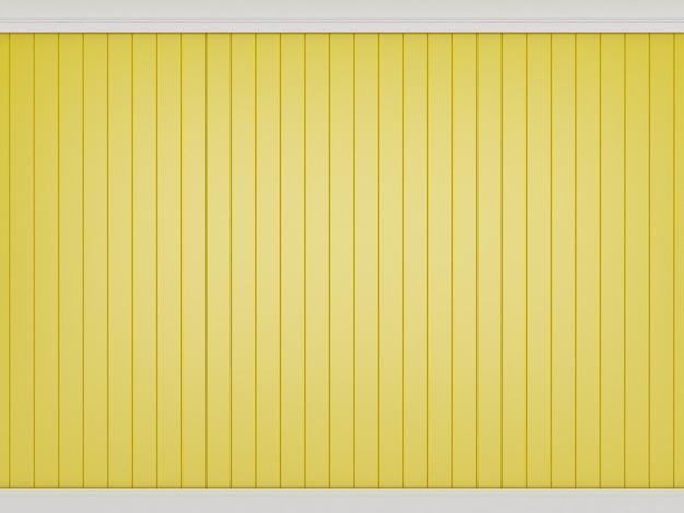 Decoração de parede amarela clássica, renderização em 3d