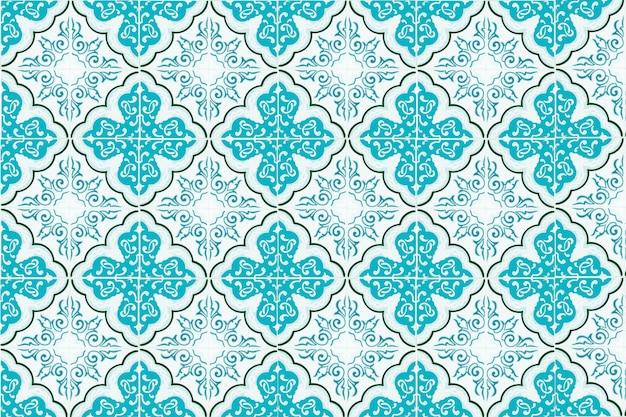 Decoração de parede de azulejos antigos. telhas de cerâmica turca de parede plano de fundo