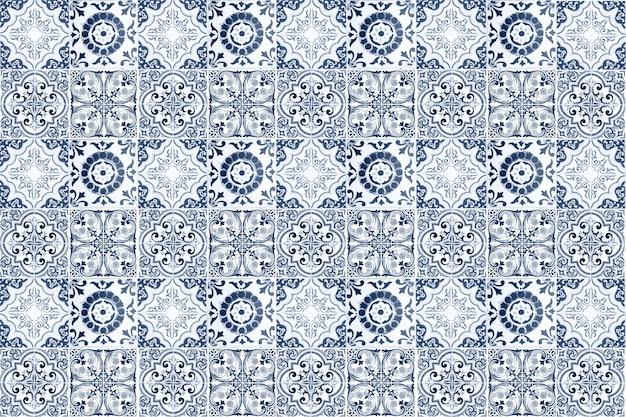 Decoração de parede de azulejos de cerâmica vintage. fundo de parede de azulejos de cerâmica turcos