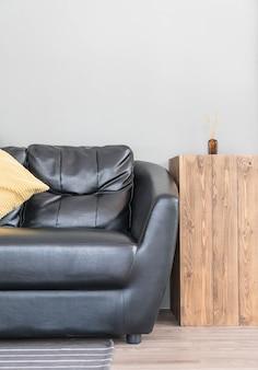 Decoração de sofá moderno