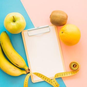 Decoração de treinamento com frutas frescas