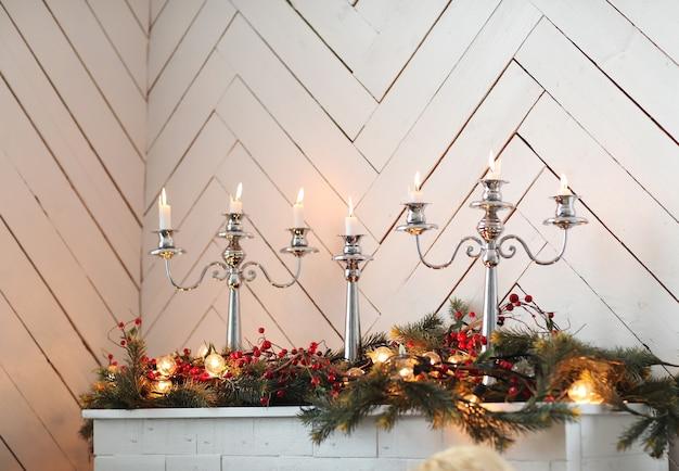 Decoração de velas para o natal