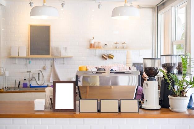 Decoração do conceito de cafeteria moderna, design de interiores