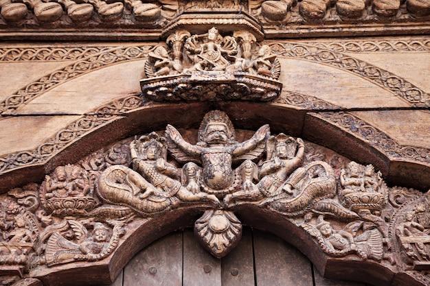 Decoração do templo hindu