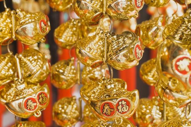 Decoração dourada para o novo ano chinês