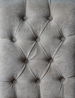Decoração em veludo treinador de tecido macio xadrez capitone cinza com botões