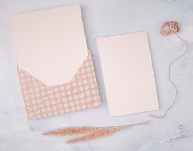 Decoração feminina plana leiga para o dia do casamento