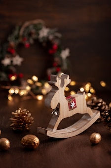 Decoração festiva de natal vintage