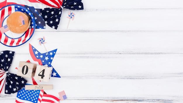 Decoração festiva para o dia da independência