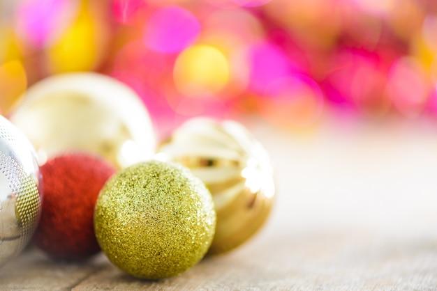 Decoração natal, ligado, abstratos, bokeh