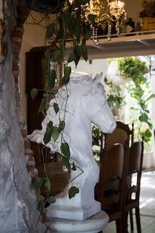Decoração sala de estar estilo interior eco verde ambiental com plantas