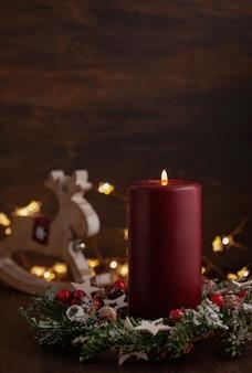 Decoração vintage de natal festivo.