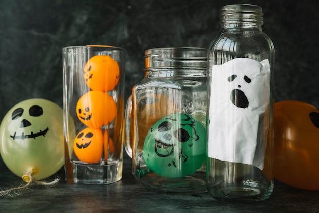 Decorações artesanais assustadoras para o halloween