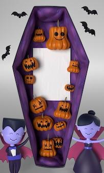 Decorações de caixão e vampiros