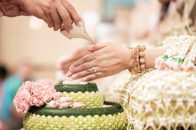 Decorações de casamento tradicional tailandesa